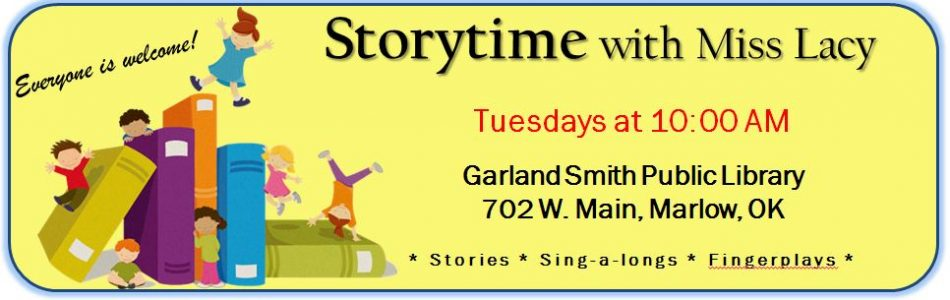 Join us for Storytime on Tuesdays at 10:00 AM!