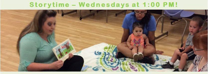 Join us for Storytime on Wednesdays at 1:00!